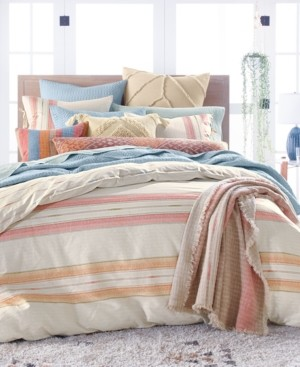 Lucky Brand Closeout! Baja Stripe Quilted Cotton 230-Thread Count 3-Pc. King Duvet Set, Created for Macy's Bedding