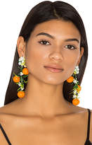 Mercedes Salazar Fiesta Orange Tree Earrings in Orange.