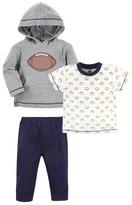 Hudson Baby Hudson Toddler Boy Cotton Hoodie, Tee Top and Pant Set, 3pc