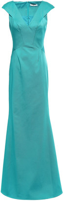 ZAC Zac Posen Nina Fluted Satin-faille Gown