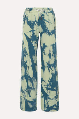 Off-White Tie-dyed Cotton-jersey Sweatpants - Blue