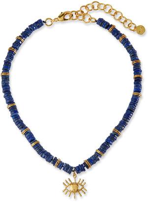 Nest Jewelry Lapis Heishi Bead Evil Eye Necklace