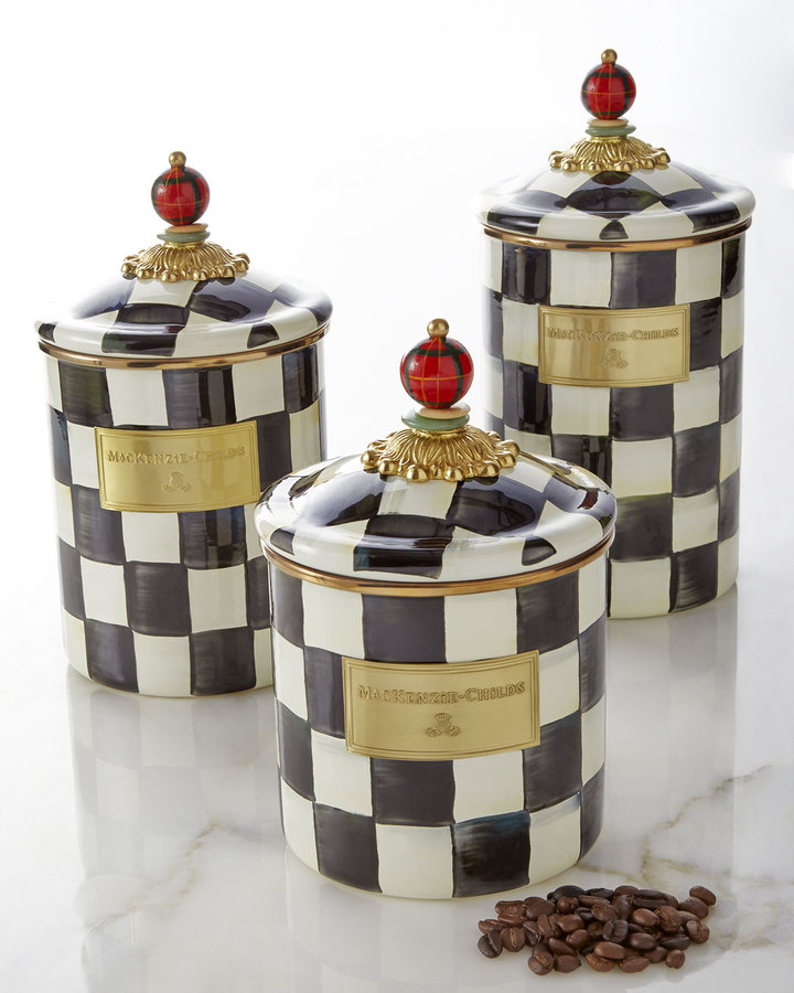 Mackenzie Childs MacKenzie-Childs Courtly Check Canisters