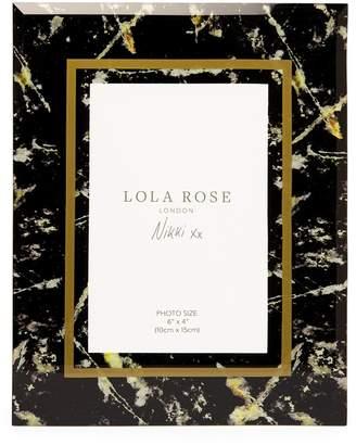 Lola Rose London Stone Print Photo Frame Black Moonstone