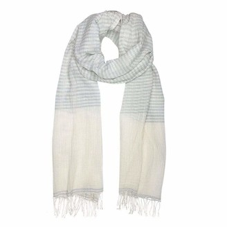 Slate & Salt Airy Cotton Stripe Scarf