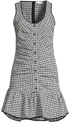 Parker Sleeveless Drop Waist Check Dress