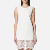 McQ by Alexander McQueen Women's Hybrid Short Lace Dress Ivory