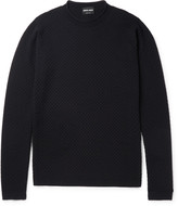 Giorgio Armani - Honeycomb Textured Wool-blend Sweater