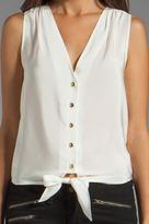Amanda Uprichard Sleeveless Tie Front Top