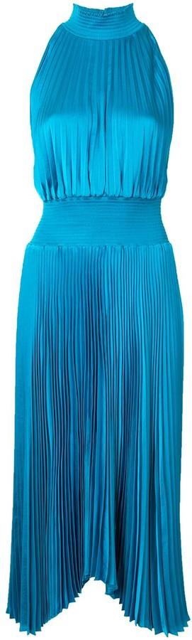 A.L.C. Pleated Sleeveless Midi Dress