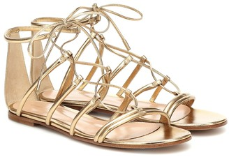 Gianvito Rossi Metallic leather gladiator sandals