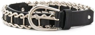Miu Miu Pre-Owned Chain Embellished Belt