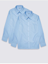 Marks and Spencer 2 Pack Boys' Ultimate Non-Iron Shirts