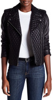 Levi's Levi&s Genuine Leather Quilted Motorcycle Jacket