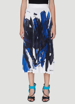 Off-White Off White Pleated Skirt in Blue