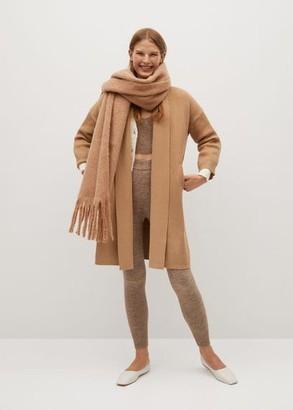 MANGO Knitted long coat