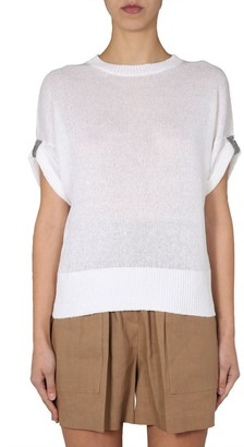 Brunello Cucinelli Knitted Round Neck Top