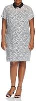MICHAEL Michael Kors Contrast Collar Lace Dress