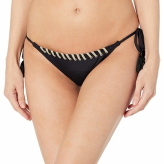 Vince Camuto Women's Bikini Bottom Side Tie Swimsuit with Whipstitch Lace Up