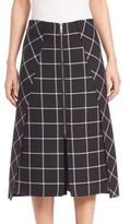 Rag & Bone Sabina Windowpane Midi Skirt