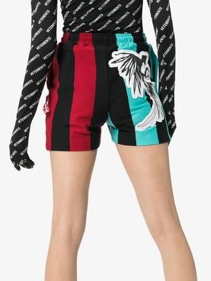 Charles Jeffrey Loverboy Magpie Stripe Jersey Shorts