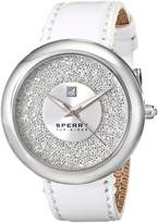 Sperry Women's 10018658 Sandbar Stainless Steel Watch with White Leather Band