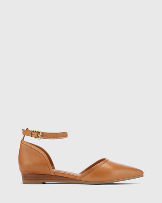 Wittner - Women's Brown Sandals - Ariel Leather Low Wedge Flats - Size One Size, 38 at The Iconic