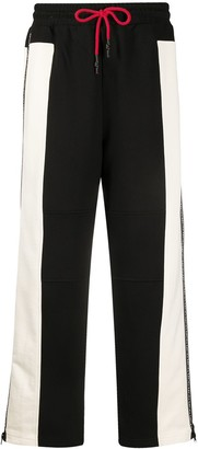 Mcq Swallow Bi-Colour Wide Leg Track Pants