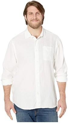 Tommy Bahama Sea Glass Breezer Long Sleeve Shirt (White) Men's Clothing