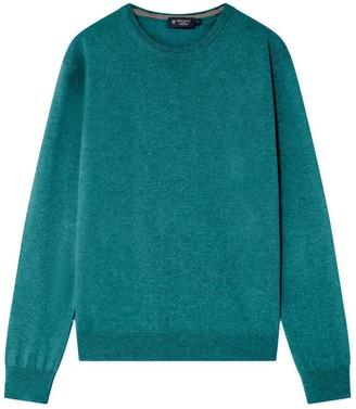 Hackett Merino Wool And Cashmere Blend Crew Neck Sweater