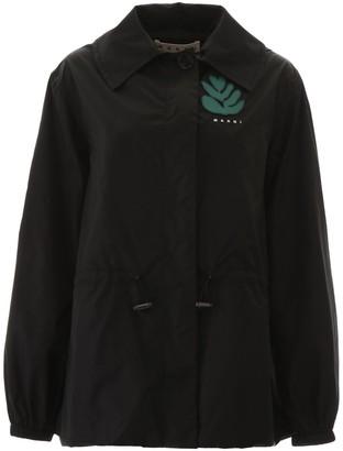 Marni Logo Hooded Windbreaker