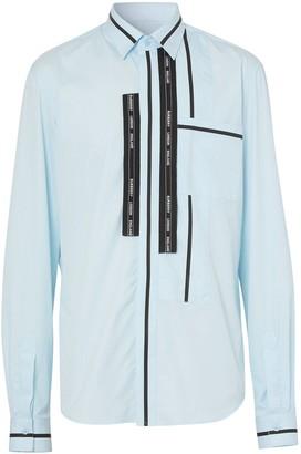 Burberry Logo Tape Slim-Fit Shirt