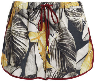 The Upside Printed Linen And Tencel-blend Shorts