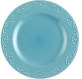 Paula Deen Set of 4 Whitaker Dinner Plates, Aqua