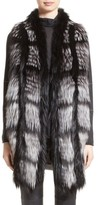 Fabiana Filippi Women's Genuine Fox Fur Front Cashmere Vest