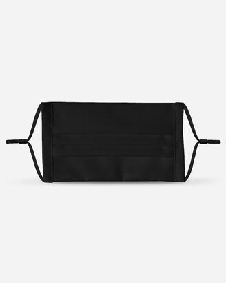 Express Pocket Square Clothing Black Pleated Unity Face Mask