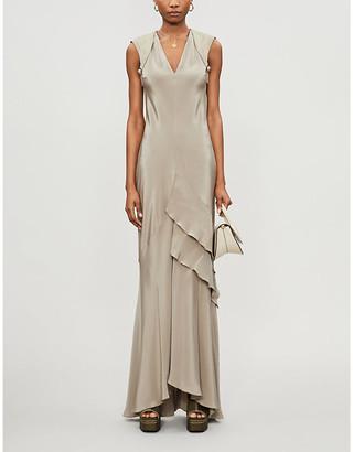 Max Mara Arezzo silk maxi dress