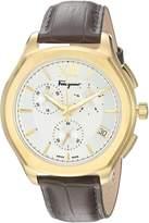Salvatore Ferragamo Men's FLF960015 LUNGARNO CHRONO Analog Display Quartz Brown Watch