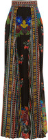Just Cavalli Printed chiffon maxi skirt