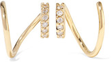 Maria Black - Lila Twirl 18-karat Gold Diamond Earrings - One size