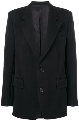 Ami Notched Lapel Blazer Jacket