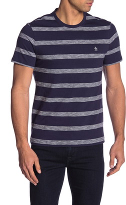 Original Penguin Short Sleeve Striped Crew Neck T-Shirt