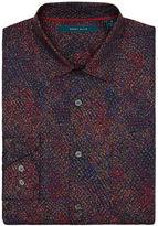 Perry Ellis Long Sleeve Speckle Print Shirt