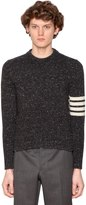 Thom Browne Wool Mohair Crew Neck Sweater W/ Stripes
