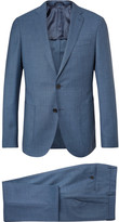 Hugo Boss - Blue Nolton Slim-fit Virgin Wool Suit