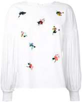 Muveil sequin embellished blouse - women - Cotton - 36