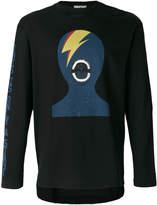 Miharayasuhiro Bowie silhouette print sweatshirt