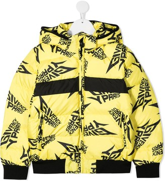 Givenchy Kids Repeat Logo Puffer Jacket