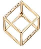 Shihara Women's 3D Diamond Square Earring - Gold