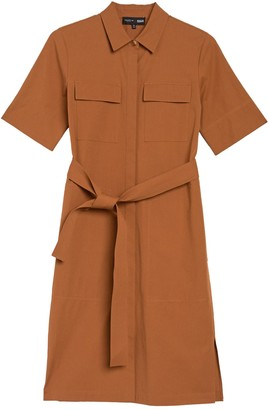 Lafayette 148 New York Doha Short Sleeve Shirt Dress